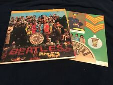 BEATLES Sgt Pepper's LP GREEN LABEL 1969 w/ unknown stamped inner w/ logo