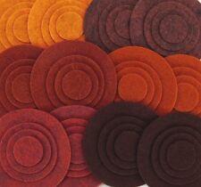 Brown Stone - 48 Die Cut Wool Blend Felt Circles