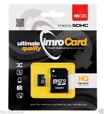 imroCard Speicherkarte 16GB UHS-I mirco SDHC mit Adapter class 10 ADP