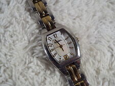 Ladies FOSSIL Silvertone Goldtone Bracelet Watch (A45)