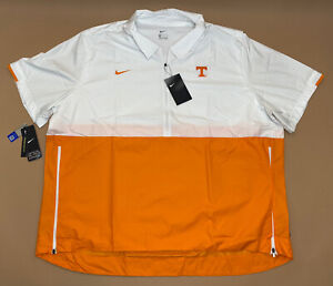 Nike Men's Tennessee Volunteers Coaches Sideline Half-Zip Jacket CQ5185-100 XXXL