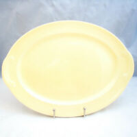 """Taylor Smith & Taylor (T S & T) LURAY LU-RAY PASTELS YELLOW 13 3/4"""" Platter"""