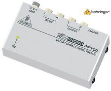Behringer PP400 MicroPhono ultra compatto MIXER REGISTRAZIONE PHONO PREAMP VINILE