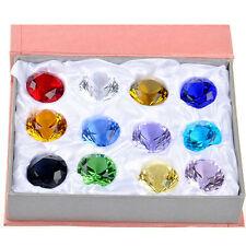 12pcs/set Kristall Glas Diamant Sortiment Geschenkbox Hochzeit Tischdekoration