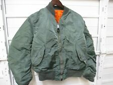 VTG Alpha Industries Made In The USA Olive Green Flight Jacket