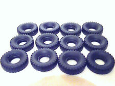 DINKY TYRES X 12 FOR FODENS ETC. SQUARE BLACK
