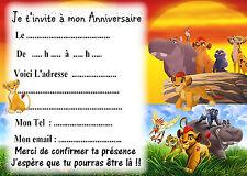 5 cartes invitations anniversaire La Garde du Roi Lion 05