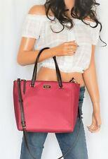 Kate Spade Dawn Medium Satchel Nylon Shoulder Crossbody Bag Rhubarbirt color