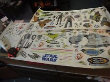 large lot Star wars jumbo stick ups stickers naboo trade federation starfighter