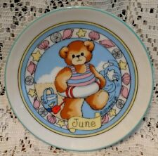 Lucy Rigg & Me June Teddy Bear at the Beach Miniature Porcelain Mini Plate 1985