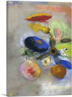 ARTCANVAS Tori Home Flowers 1916 Canvas Art Print by Odilon Redon