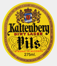 Kaltenberg Brauerei GmbH KALTENBERG PILS beer label WEST GERMANY 275ml
