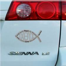 Jesus Magnetic Car Auto Emblem 7 inch Pisces Fish Ixoye Names Emmanuel Lord Son