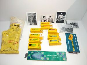 BIG Undeveloped 1960's Kodak Film With Negatives & Picture Lot Military Japan