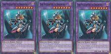 YUGIOH CARD 3 X  DARK MAGICIAN GIRL THE DRAGON KNIGHT LEDD-ENA36  DRAGON DECK