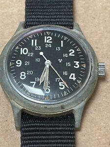 Vintage Benrus MIL-W-46374 A US Military Watch March 1975 Vietnam Era REPAIR