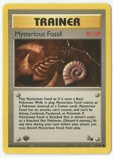 Pokemon 1st Edition Fossil set Mysterious Fossil Trainer 62/62 comn NM Condition