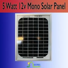 5W Solar Panel 12V DIY 5 Watt 12 Volt 5 W Battery Charger Mono Rigid New Real