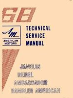 OEM Repair Maintenance Shop Manual Bound for Amc All Models w/Amx Supp 1968