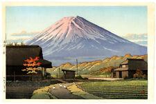 "1953 Kawase Hasui ""Autumn in Funatsu"" Original Japanese Woodblock Print MINT!"
