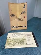 Magnavox Stereo Record Console Operating Guide Manual Instructions