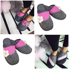 Women's ECO FELT WOOL Slippers House Shoe Size 3 4 5 6 7 8 Thick sole (30-31)