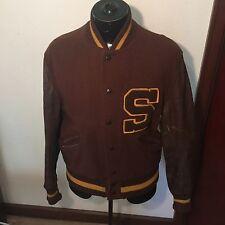 Vintage 1940'S-60'S Baseball Whiting College Jkt Sz 44