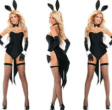 New Sexy Women Bunny Costume Black Fancy Dress Suit Christmas Halloween Costumes