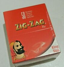 NEW 50X ZIG ZAG KING SIZE RED SMOKING CIGARETTE ROLLING PAPERS GENUINE UK SELLER