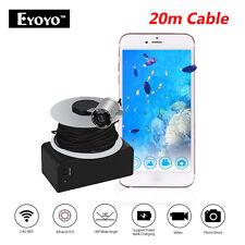 Eyoyo Portable Wireless Wifi Fish Finder 20M Underwater Fishing Camera Sea Boat