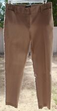 George Womens Tan Beige Rayon Blend Stretch Pants Ankle Size 6 Dot Print