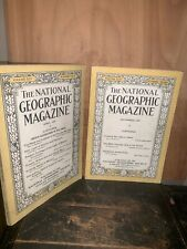 NATIONAL GEOGRAPHIC Magazine 1924, 2 ISSUES September April.