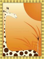 PRINT POSTER PAINTING NATURE ANIMAL SPOTTY GIRAFFE SUN CHILDREN KIDS LFMP0133