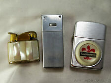 Collection of (3) Vintage Butane Lighters |Take a Look Evans Dubuques Luna| 9602