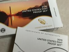 2015 U.S. Proof Set,  all 14 gorgeous coins + COA, free shipping