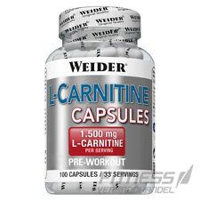 (23,17€/100g) Weider L-Carnitin 100 Kapseln, mit 500 mg L-Carnitin pro Kapsel