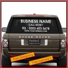 Personalised Business Rear window Car & Van Vinyl Signs Stickers Decals 600/400