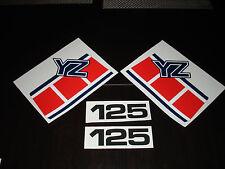 1985 YAMAHA YZ 125 GAS TANK AND SIDE PANEL DECALS AHRMA