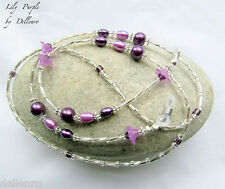 ✫LILY PURPLE✫ BEADED EYEGLASS GLASSES SPECTACLES CHAIN HOLDER CORD