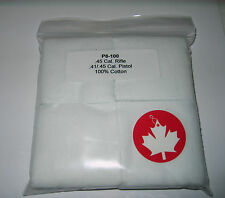 Cleaning Patches for .45 Cal. Rifle & 41/45 Cal.Pistol 100% cotton Pack of 100