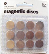 Basic Grey Large Magnetic Disks 12 ea, NEW