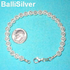 6 pieces Sterling Silver 925 6mm MESH NET BEADS Bracelets Wholesale Lot