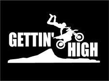 Dirt Bike Decal Gettin' High motor bike car truck motorcycle ATV vinyl sticker