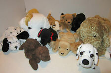 Lot of 11  DOGS only- Ty Beanie +Punch + Pull Tail Dog + 2 lge incl. Princess EC