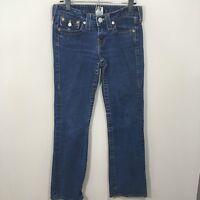 "TRUE RELIGION ""Becky"" Women's Medium Wash Boot Cut Denim Jeans 28"