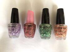 London Girl Glittery 1 Nail Polish 18ml  (Purple,Pink,Green,Orange)