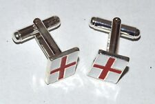 NEW England world cup St georges cross football cufflinks mens dad grandad groom