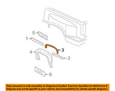 GM OEM Bed-Wheel Fender Flare Arch Opening Molding Right 15546460