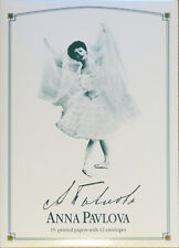 Anna Pavlova Writing Set. 15 printed papers with 12 envelopes.