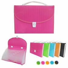 1 Large 13 Pocket Expanding File Folder Paper Organizer Accordion Holder Case